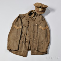 Corporal's Universal Service Dress Jacket and Cap, 2nd Canadian Battalion