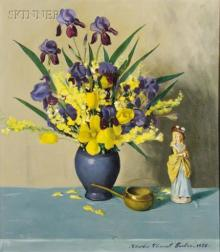 Charles Clement Tucker (American, b. 1913)      Still Life with Irises