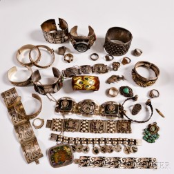 Group of Mexican and Native American Jewelry