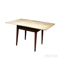 Federal Red-stained Cherry One-drawer Tavern Table