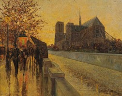 Continental School, 20th Century      Paris View with Notre Dame