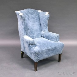 Federal-style Upholstered Mahogany Easy Chair