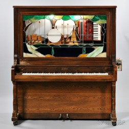 Oak Case Aolian Nickelodeon Player Piano