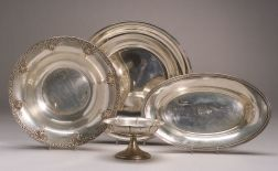 Four Sterling Silver Tablewares