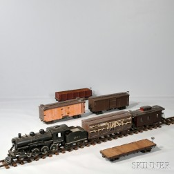 Large-scale Carved and Painted Boston and Maine Railroad Set