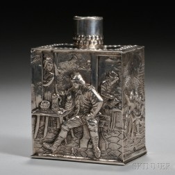 Cornelis Rietveld Dutch .833 Silver Tea Caddy
