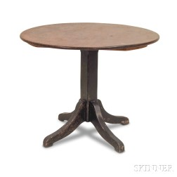 Mahogany and Black-painted Center Table