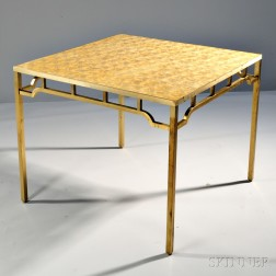Billy Haines Capiz Shell Game Table