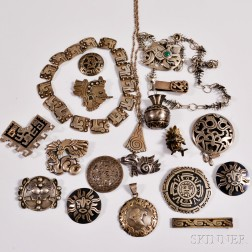 Group of Signed Mexican Silver Jewelry