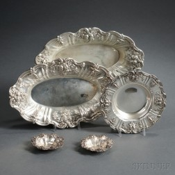 Five Pieces of Reed & Barton Francis I   Pattern Sterling Silver Hollowware