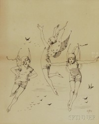 Jessie McDermott (American, 19th Century)      Three Foolish Fairies