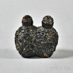 Double Amber Snuff Bottle