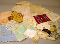 Group of Linens, Textiles, and Assorted Miscellany