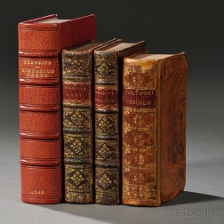 Classics, Early Printed Books, 1546-1713, Four Volumes.