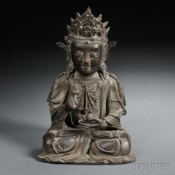Ming-style Bronze Figure of Guanyin