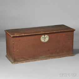 Paint-decorated Quartermaster's Six-board Chest