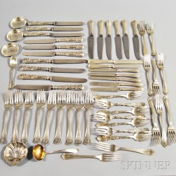 Group of American Sterling Flatware Articles,