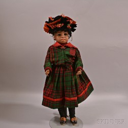 Simon & Halbig No. 1358 Bisque Head Black Character Doll