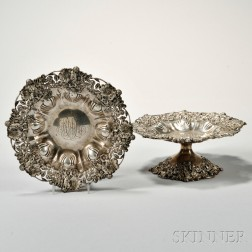 Two Graff, Washbourne & Dunn Sterling Silver Tazza