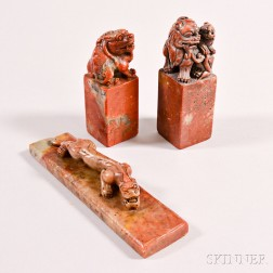 Three Carved Stone Seals