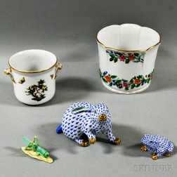 Five Herend Porcelain Items