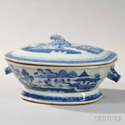 Canton Porcelain Covered Tureen