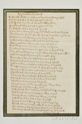 Frost, Robert (1874-1963) Autograph Poem Signed, A Considerable Speck.