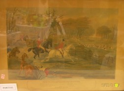 Pair of Framed English Hand-colored Lithographs The Young English Fox Hunter