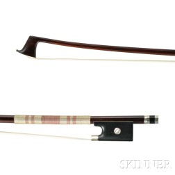 German Nickel Silver-mounted Violin Bow, Possibly Bausch Shop