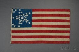 Thirty-four Star American Flag with Star-form Pattern