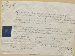 George III, King of England (1738-1820) Document Signed, 4 August 1804.