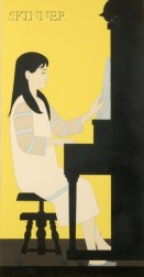 Will Barnet (American, b. 1911)      Girl at Piano