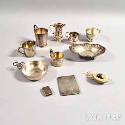 Eleven American and British Silver Table Articles