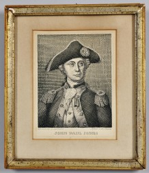 """JOHN PAUL JONES"" Engraved Portrait"