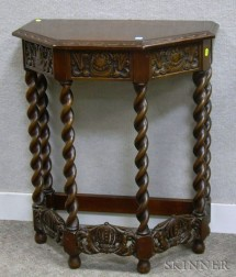 Irving & Casson/A.H. Davenport Jacobean-style Carved Walnut Side Table