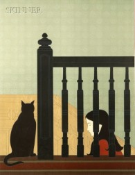 Will Barnet (American, b. 1911)      The Bannister