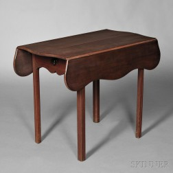 Carved Cherry Pembroke Table