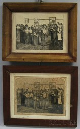 Two Harper's-type Framed Shaker Processional Prints
