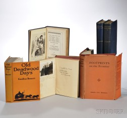 Far West Literature, Five Titles in Six Volumes, Four Titles Signed by the Author.