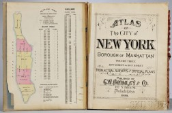 Atlas of the City of New York; Borough of Manhattan, Volume Three: 59th Street to 110th Street.
