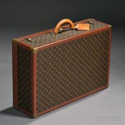 Louis Vuitton Leather and Coated Canvas Hard-side Suitcase