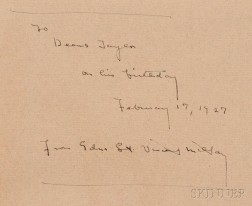 Millay, Edna St. Vincent (1892-1950) Seven Volumes Inscribed to Deems Taylor (1885-1966):