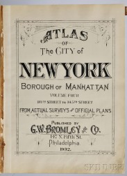 Atlas of the City of New York; Borough of Manhattan, Volume Four: 110th Street to 145th Street.