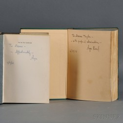 Rand, Ayn (1905-1982) Two Volumes Inscribed to Deems Taylor (1885-1966)