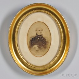 Albumen Photograph of a Print of Commodore Jesse Duncan Elliot (1782-1845)