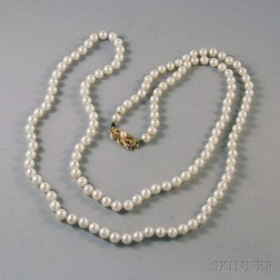 Boxed Mikimoto Cultured Pearl Necklace