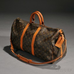 Louis Vuitton Monogrammed Canvas and Leather Duffle