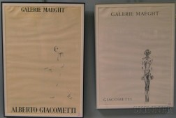 Two Galerie Maeght Exhibition Posters for Alberto Giacometti