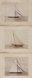 Nathaniel Livermore Stebbins (American, 1847-1922) Twenty Photographs of Sailing Vessels, Including Contenders in Americas Cup Races,