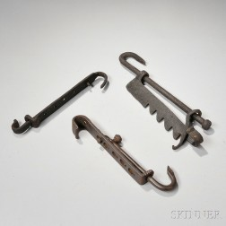 Three Wrought Iron Trammels